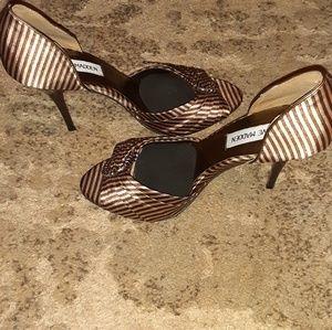 Steve Madden striped heels size 8